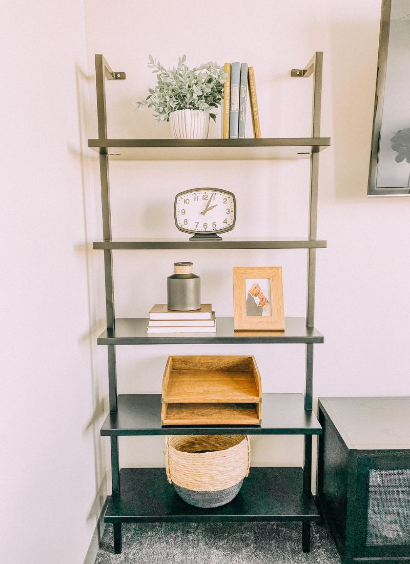 We love these modern shelves www.twistmepretty.com