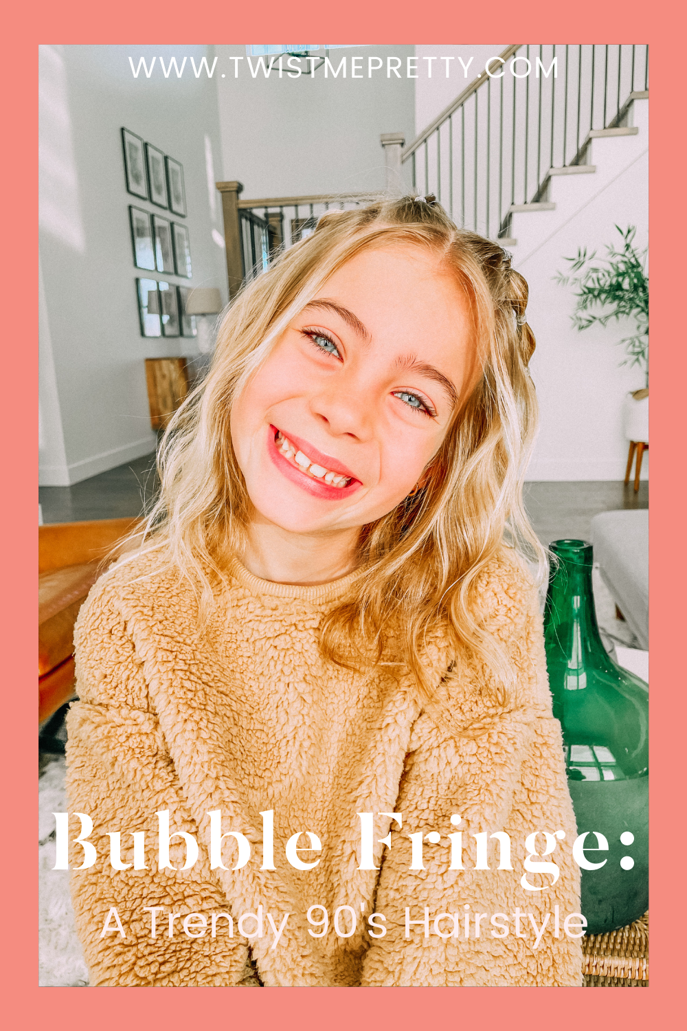 Bubble Fringe: A Trendy 90's Hairstyle www.twistmepretty.com