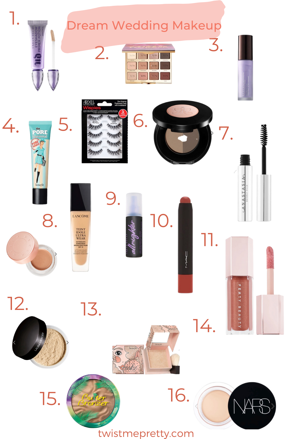 products for wedding day makeup twistmepretty.com