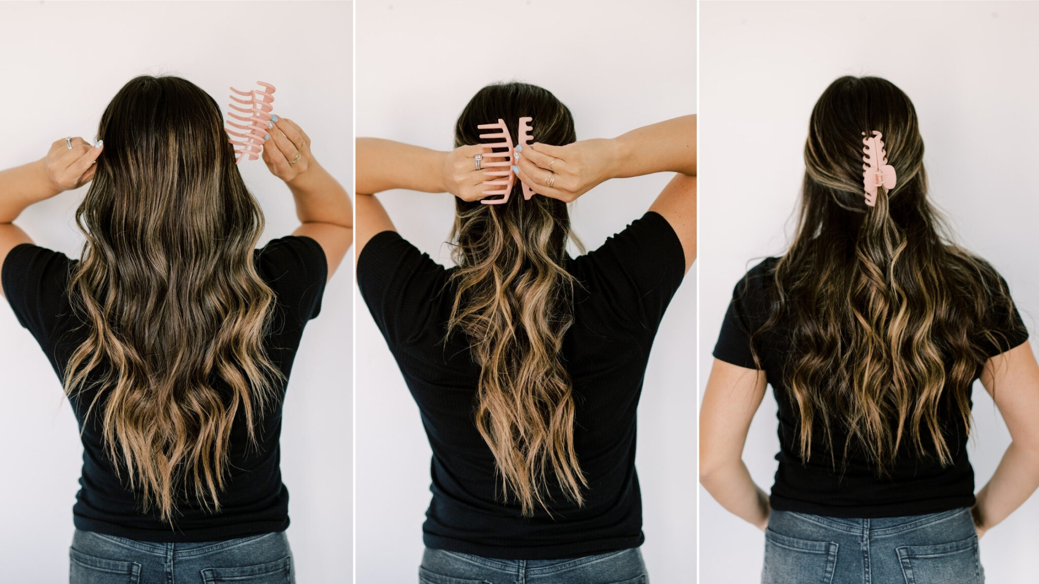 quick, easy hair style that is thrown together but looks like it was planned. www.twistmepretty.com