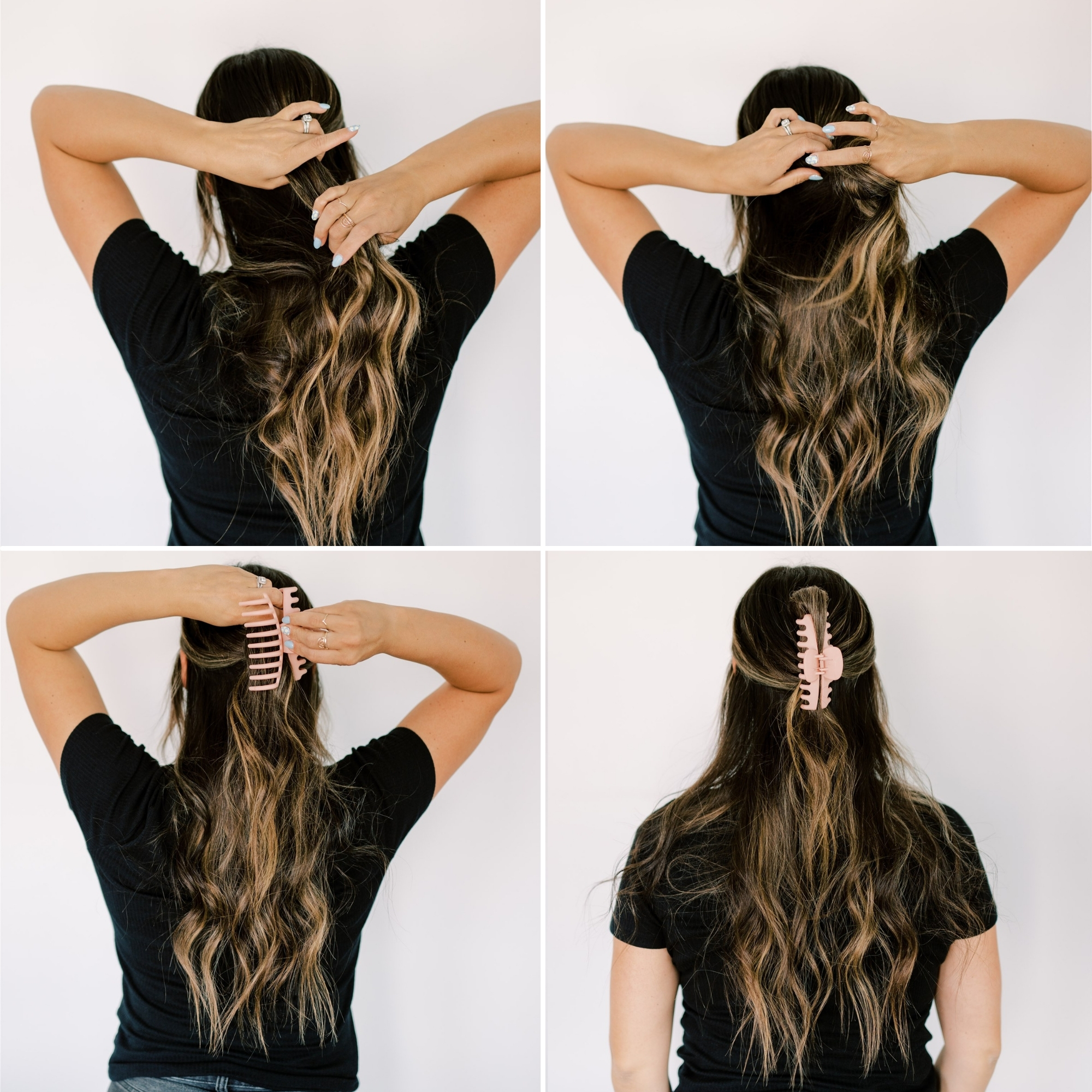 give your hair a little twist to help the claw clip stay in place. www.twistmepretty.com