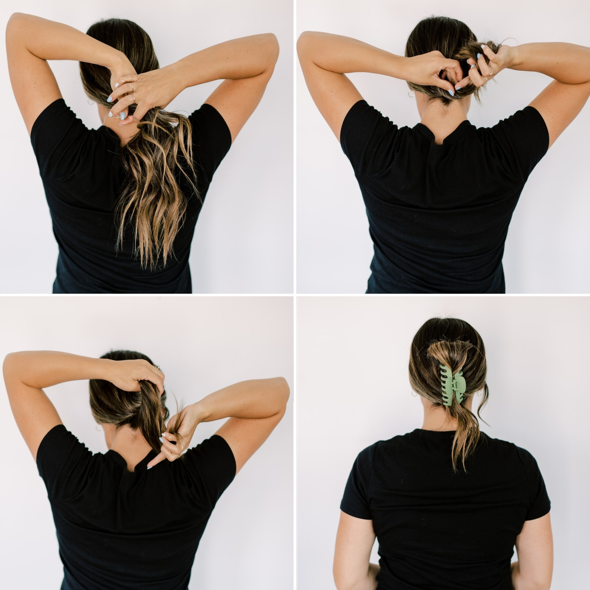 pull that hair back with a claw clip to be super trendy. www.twistmepretty.com
