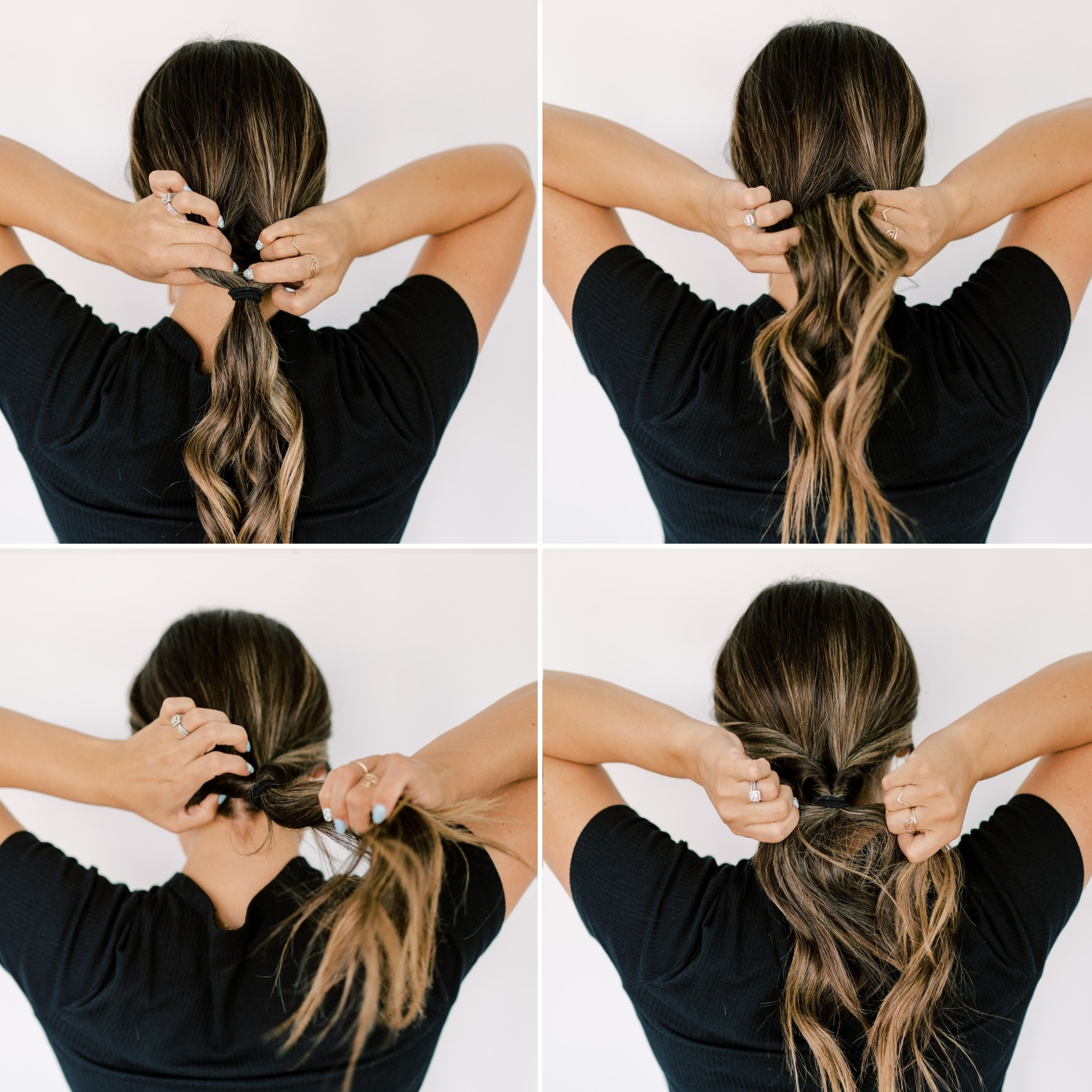 try this quick and easy pony tail hair style that is trending! www.twistmepretty.com