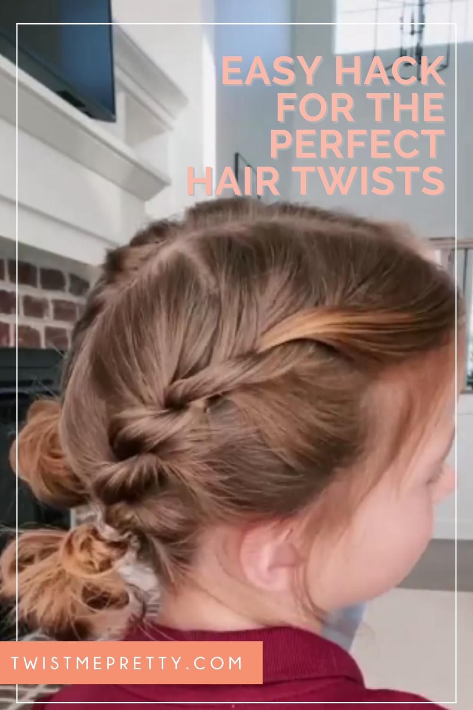 ¡Envía a tu hija con estos perfectos giros de cabello que le encantarán!  www.twistmepretty.com
