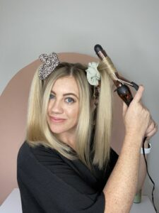 Get as many curls as you can without taking your hair out of the scrunchies. www.twistmepretty.com