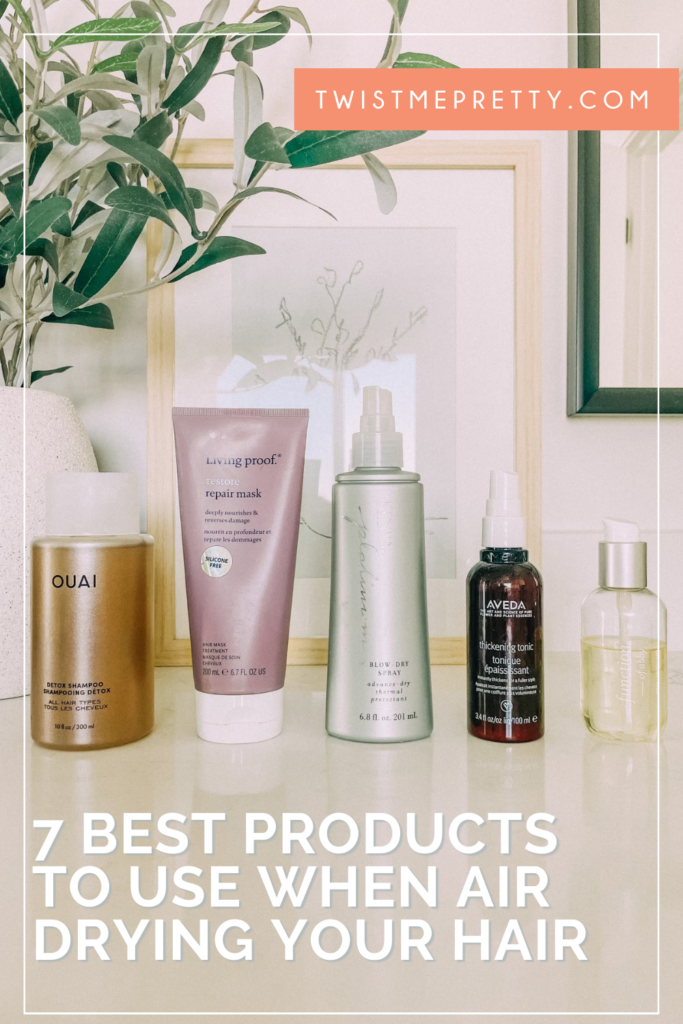 what to use in your hair when it's air dried. www.twistmepretty.com
