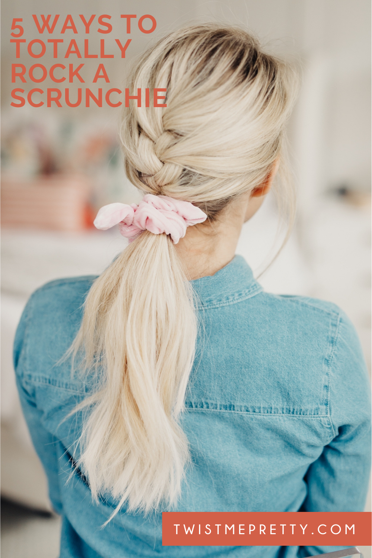 my best advice for wearing a scrunchie. www.twistmepretty.com